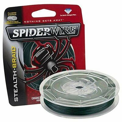 SpiderWire Stealth Braided Fishing Line (15lb x 200yd) - Moss Green