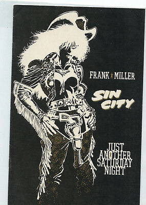 Sin City: Just Another Saturday Night (October 1998, Dark Horse Comics) F Miller