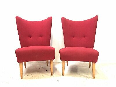 Pair of Vintage Retro Mid Century HOWARD KEITH Encore 1950s Cocktail Chairs