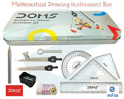 DOMS 9 Pieces Maths Geometry Box Mathematical Instruments School College
