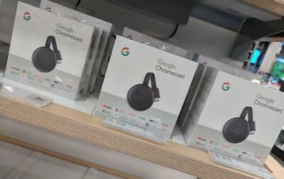 GOOGLE CHROMECAST 3RD GENERATION GA00439-US Charcoal BRAND NEW SEALED