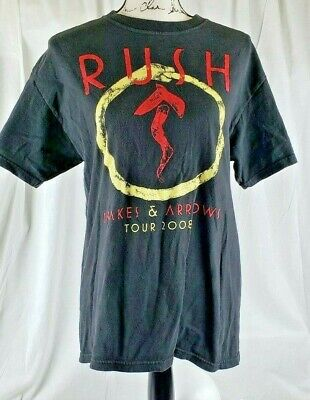 2008 RUSH SNAKES & ARROWS Concert (LG) Shirt GEDDY LEE NEIL PEART ALEX LIFESON