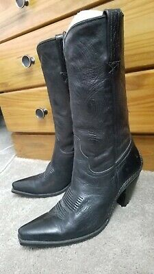 52e00e6de2fde CHARLIE 1 HORSE by Lucchese Cowboy Boots Black Leather  I4511 ...