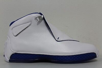 low priced db2c9 6d29a Nike Mens Air Jordan 18 Retro XVIII White Royal Blue AA2494-106 Size 12
