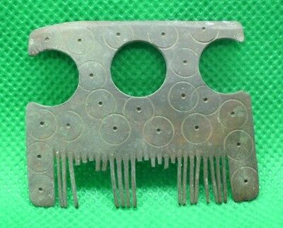 Roman Medieval Viking Bronze Comb - Extremely Rare