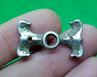 Superb Celtic Druids Silver Amulet With Duck Heads - 300/200 Bc -Rare -