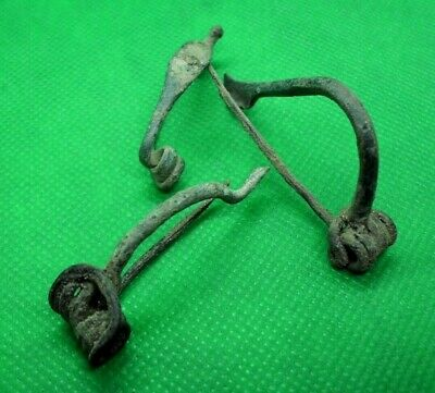 Ancient Celtic Bronze Fibulae Brooches - 3 Pieces - 300/100 Bc -