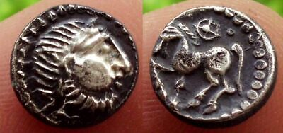 Superb Celtic Silver Obol Coin - 200 Bc
