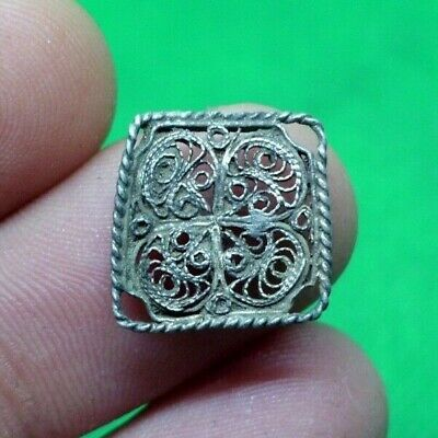 Superb Celtic Roman Silver Amulet - 100 Bc -Rare - Wearable - Fine Details
