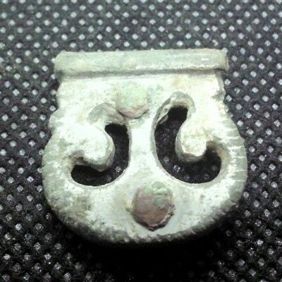 Ancient Celtic Silver Plated Bronze Lunar Amulet Decoration - 200/100 Bc