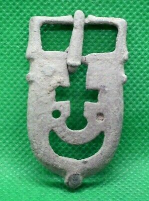 Ancient Roman Bronze Belt Buckle - 300 Ad - Complete - Early Christian Type