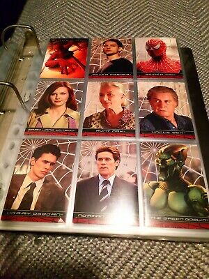 SPIDER-MAN TOPPS FIRST MOVIE Full Set of 100 Trading Cards Bargain Bundle