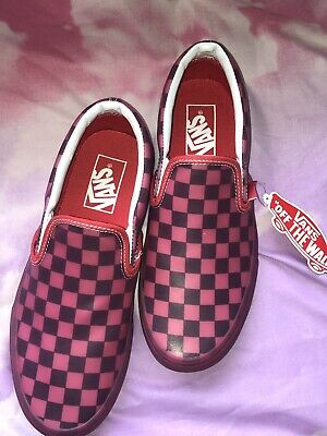 fb9c16b7823e3c Vans Translucent Red Rubber Classic Slip-On Hibi Women s Size 7.5 BRAND NEW