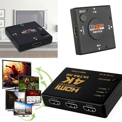 3/5 Port HDMI Splitter Switch Selector Switcher Hub IR Remote 1080p For PS3 HDTV