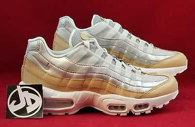 6beef577a6 Wmns Nike Air Max 95 Se Prm Pure Platinum Beige Running ( Ah8697 002 ) Size
