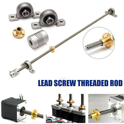 8mm Threaded Rod Trapezoidal T8 Lead Screw Set 600mm~1200mm For CNC 3D Printer