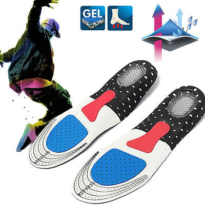 Unisex Gel Orthotic Sports Arch Support Insoles Insert Comfy Shoe Pad Running
