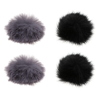 4Pcs Fur Windscreen Wind Muff Mic Furry Cover for Lavalier Lapel Microphone
