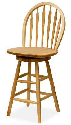 "Windsor 24"" Wood Swivel Counter Stools in Beech [ID 265]"
