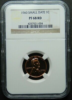 1960 Small Date Lincoln Penny NGC PF 68 RD,  Free Shipping