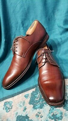 6519a9094cbdf TO BOOT NEW YORK Mens Dress Shoes Brown Leather Lace Up Oxfords Size 8.5