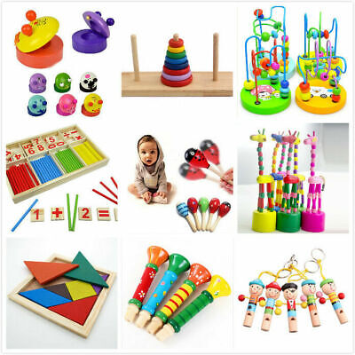 Wooden Toy Gift Baby Kids Intellectual Developmental Educational Early Learning