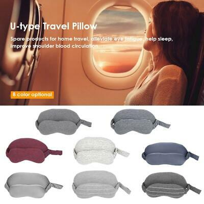 2 in 1 Travel Eye Mask Pillow Car Airplane Head Neck Cushion Support U-Shaped