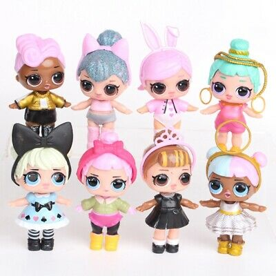 8pc LOL SURPRISE DOLL Blind Mystery Toy PVC Figure Cake Topper Gift Kid Toy UK