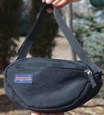 3221888dc04 Jansport FIFTH AVENUE FANNY PACK Black Hip Waist Bag Adjustable Hiking  Travel FS