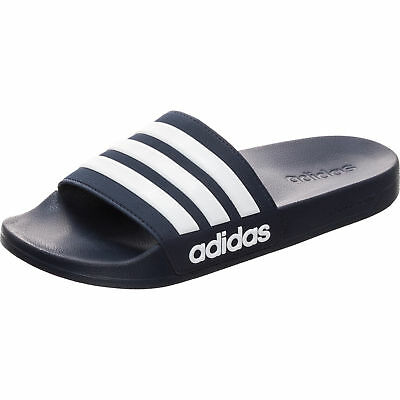 Adidas Cloudfoam Adilette Shower In Blau-weiß aq1703