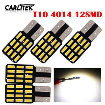 5pcs Canbus T10 W5W 5SMD LED Car Wedge Light Plate License 168 194 2825 Bulbs