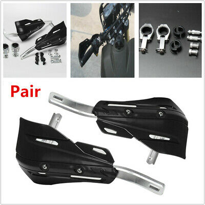 """2PCS 7/8"""" 1 1/8"""" Motorcycle Bikes Hand Guard Prevent Cold Wind Brush+Fitting Kit"""