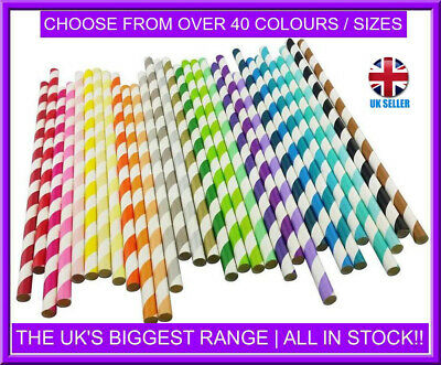 40pcs Candy Twist Red Paper Drinking Straws 6mm x 200mm Biodegradable Packaging
