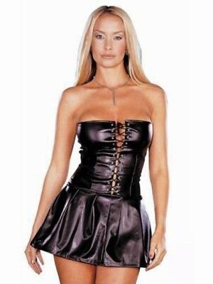 Mini Abito Sexy Donna Vestito in Latex Lattice Fetish Sadomaso BDSM Sexyshop