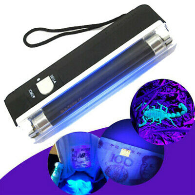 Mini Portable LED Flashlight Lamp Torch+Ultraviolet Light UV Money Detector