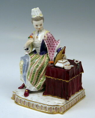 Meissen Figur 5 Sinne Der Gesichtssinn Five Senses The Sight Mnr: E5 Um 1850 Top