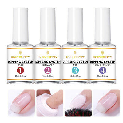 4Pcs/Set BORN PRETTY 7ml Dipping Powder System Dip Liquid Nail Art Starter Kit