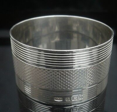 Silver Napkin Ring, Birmingham 1945, Hukin & Heath Ltd, Super Clean Condition