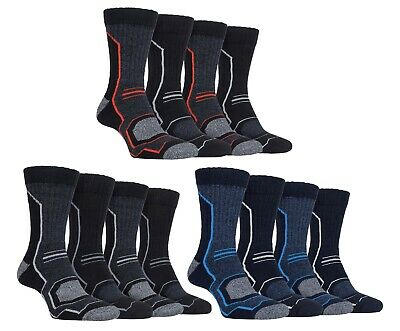 Storm Bloc - 4 Pack Mens Breathable Performance Hiking Socks with Arch Support