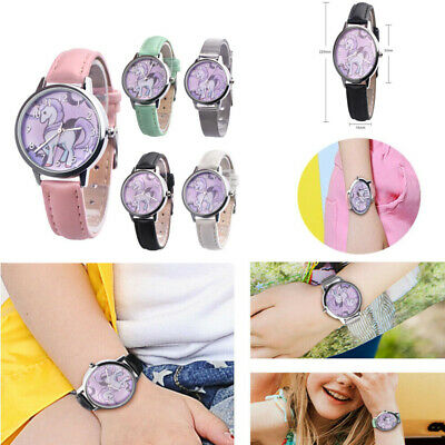Watches Cute Unicorn Ladies Watch For Kids Girls Boy Leather Wristwatch Casual Dress Fashion Children Learn Time Watch U85b Kidswatch A Wide Selection Of Colours And Designs
