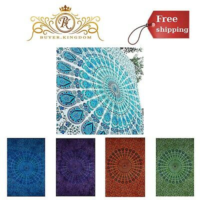 Bohemian Mandala Tapestry Totem Hippie Wall Hanging Throw Decor 54 x 84 Inches