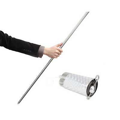 Metal Magic Item Appearing Cane Wand Stick Stage Trick Gimmick 1.1m Silver #AM8