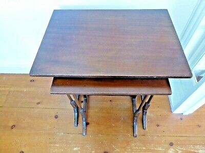 Vintage Pair of Mahogany Nesting Tables
