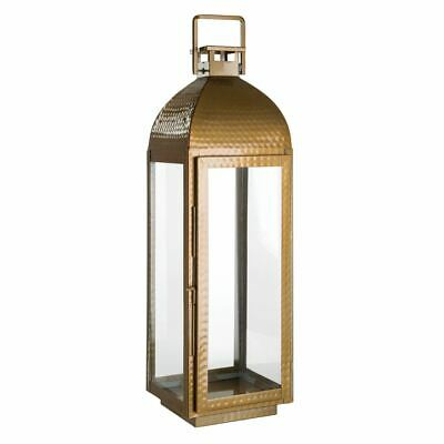 Complements Large Lantern,Stainless Steel / Glass,Brass Finish