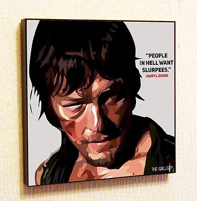 CANVAS Daryl Dixon 16x12 GICLEE Gallery Wrap Decor The Walking Dead by Ed Capeau