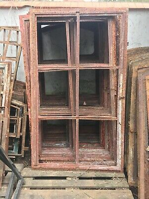 Vintage Iron Arched Industrial Crittall Metal Window  6 Pane swivels