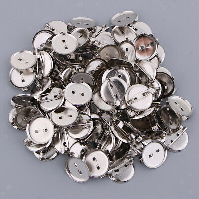 100pcs DIY CREATIVE BROOCH BADGES COMPONENT VARIOUS SIZES CRAFT JEWELLERY