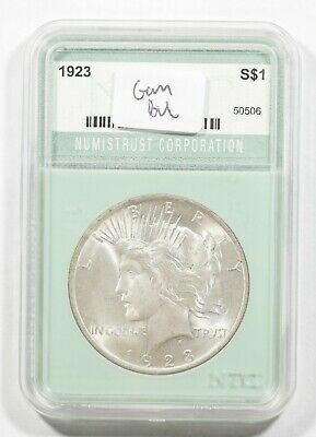 1923 Peace Silver Dollar $1 Choice Gem Bu Brilliant Uncirculated (506)