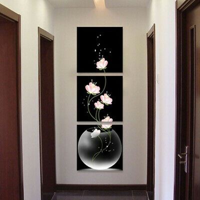 3pc Art Modern Flower Painting Canvas Picture Print Wall Hangings Decor NO frame