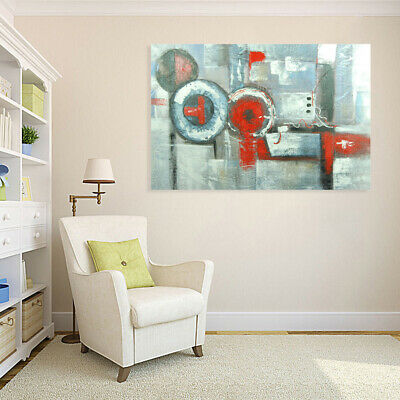 Hand Painted Abstract Art Canvas Oil Painting Wall Decor Framed - Water Pipe